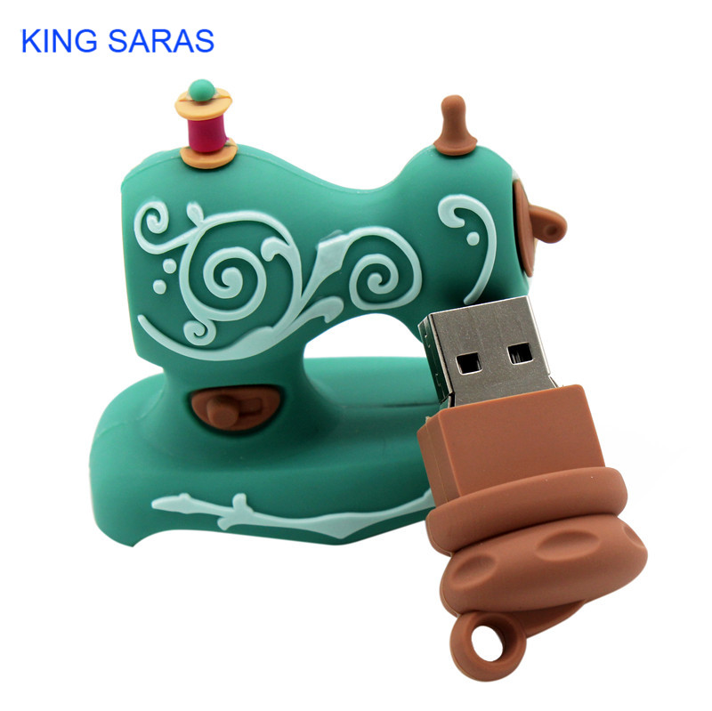 Image 5 - KING SARAS cartoon Beautiful creative Sewing machine model usb2.0 4GB 8GB 16GB 32GB 64GB pen drive USB Flash Drive  Pendrive-in USB Flash Drives from Computer & Office