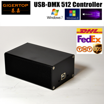 Freeshipping HD512 Stage Light USB Controller with CD/Power Cable Support WIN7/WIN10 Avldiy DMX512 Box Updated Service