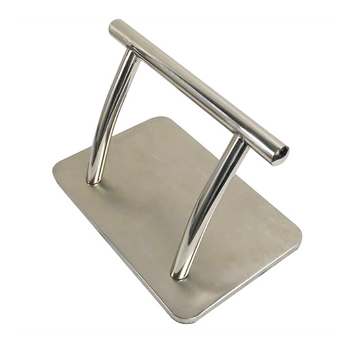 Barber Chair Stainless Steel Footrest Salon Tattoo Hairdressing Seat Floor Stand Foot Rest Furniture Parts Accessories Non-Slip