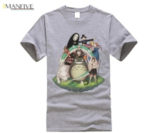 Mononoke Neighbor Totoro Studio Ghibli T shirt The Wolf Princess T-shirt Hot sale Nice Short-sleeved PLus szie Fashion Tees