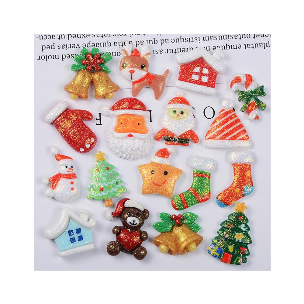Mixed Resin Merry Christmas Flatback Embellishments Scrapbook Decor DIY Craft
