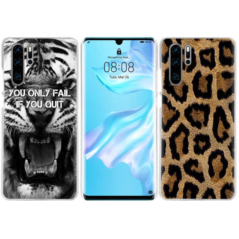 虎ヒョウ柄のケース Huawei 社メイト 30 20 10 P20 P30 Lite Pro の P スマート Y9 プライム 2019 名誉 8A 8X 10i PC 電話カバーバッグ