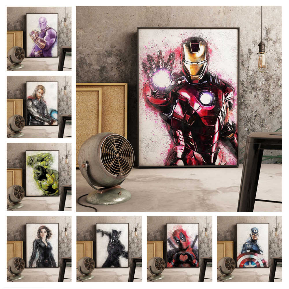 Persegi Bor 5D DIY Diamond Lukisan Superhero Hulk Spiderman Iron Man Bordir Cross Stitch Mosaik Dekorasi Rumah Y3537