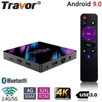 Travor set top box H96 max tv Android 9.0 smart USB 3.0 4GB RAM 32GB ROM 4K WiFi Youtube Media player 3D Set-Top