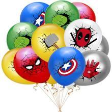 36 pçs spiderman balão crianças menino super-herói redondo balão feliz aniversário festa decoração conjunto crianças brinquedo presente
