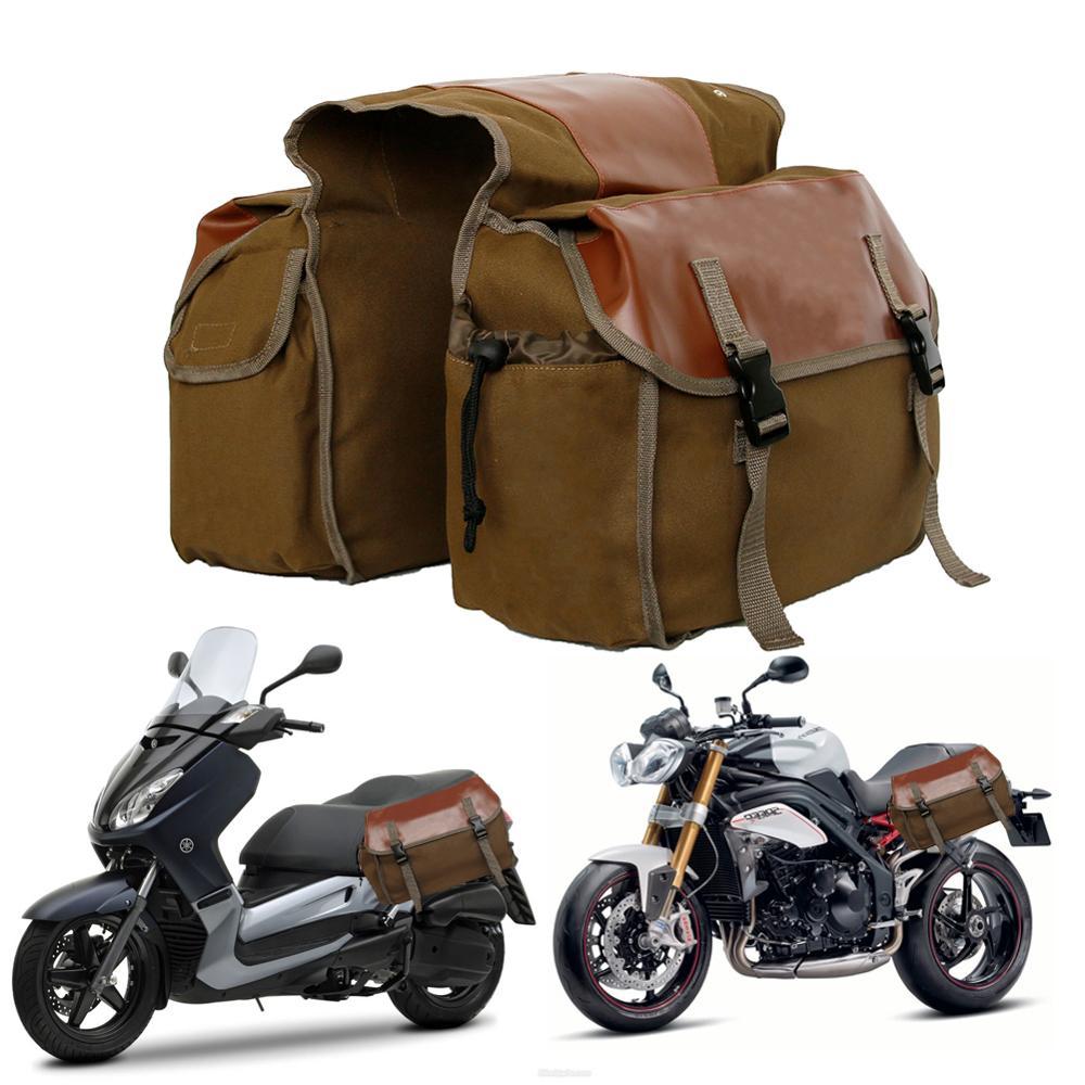 Sacs à bagages étanches en toile pour Honda shadow, sac de selle pour moto Suzuki dr 650 1