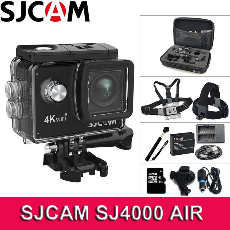 Original SJCAM SJ4000 AIR Action Camera 4K WiFi Deportiva 2.0 inch LCD Screen 30m Waterproof Housing Mini Helmet Sport Camera