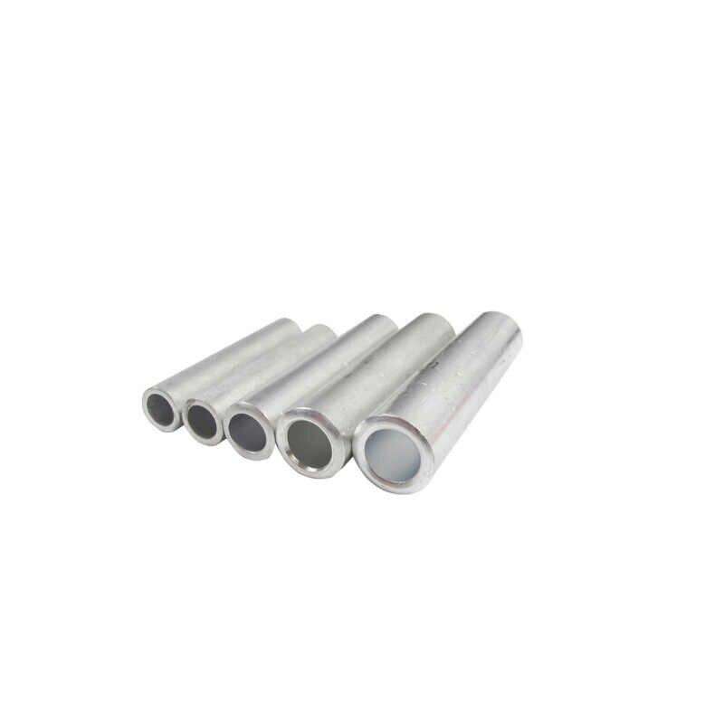GL-95 95mm2 Tabung Aluminium Tidak Ada Isolasi Kawat Kabel Terminal Lubang Lewat Konektor Tabung Lengan Lug Crimp Terminal Pabrik Langsung