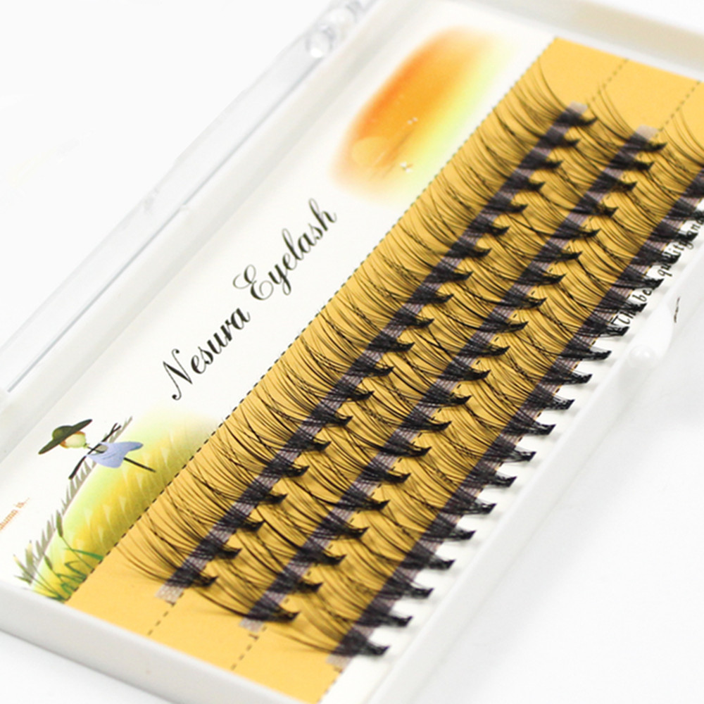 60 Bundles Mink Eyelash Extension Natural 3D Russian  Volume Faux Eyelashes Individual 20D Cluster Lashes Makeup Cilia