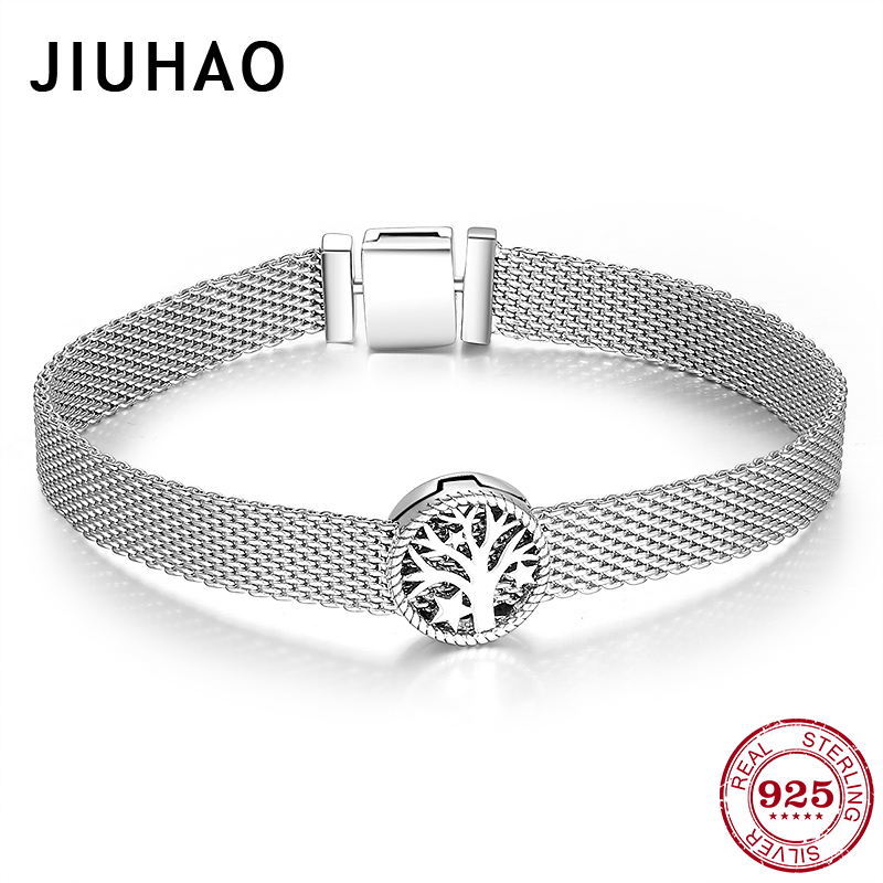 New arrival 925 Sterling Silver tree of life Clip Beads Bracelets Fit Original Reflexions Charms Bracelet Women DIY Fine Jewelry(China)