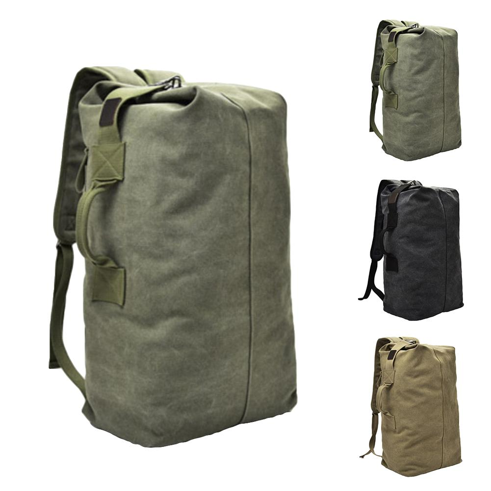 Fashion Outdoor Travel Luggage Army Bag Portable Men Solid Color Canvas Backpack Large Capacity Sport Rucksack рюкзак мужской