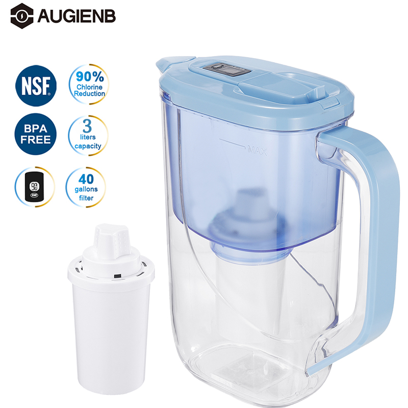 3L Water Pitcher Filter Household Water Jug Activated Carbon Filter For Health Drink Remove Chlorine,Scale,Deposits,Rust