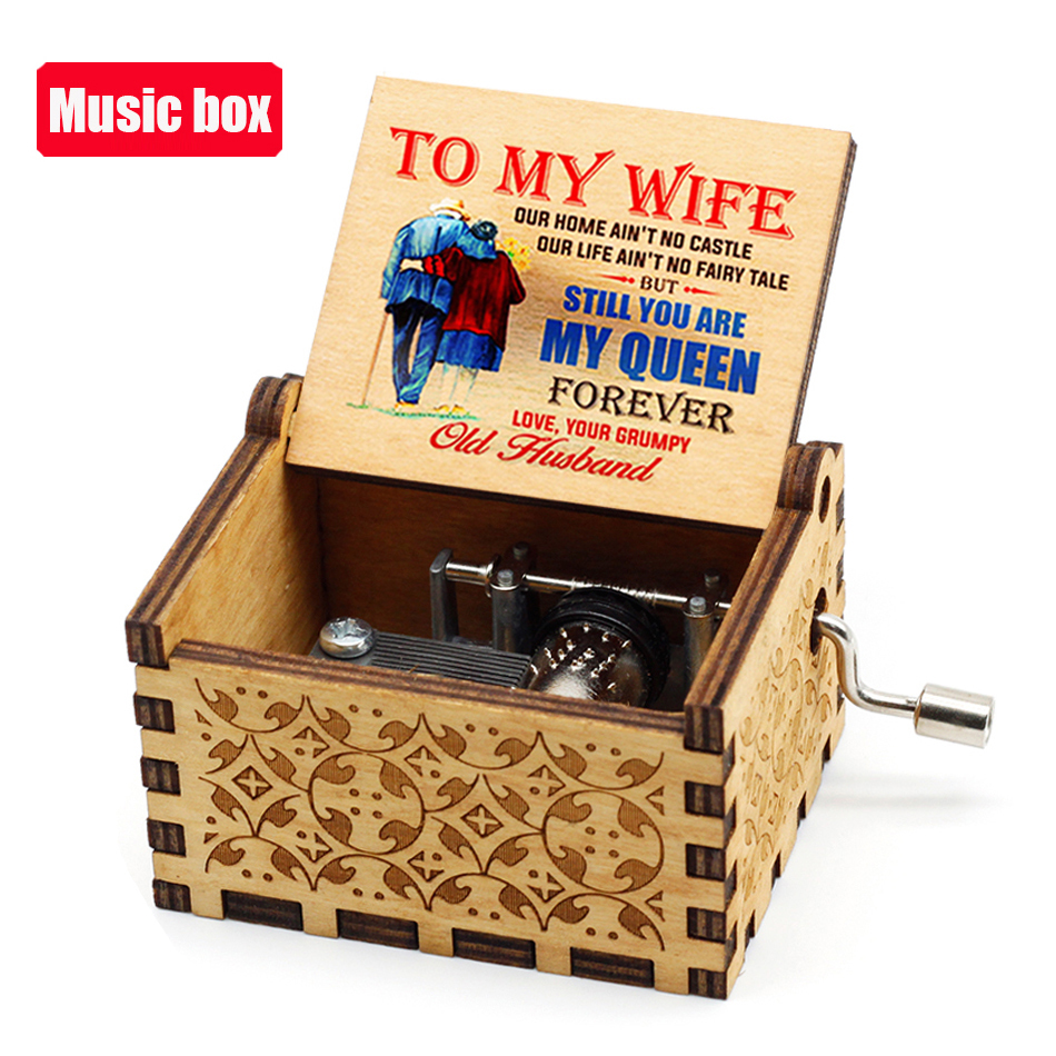 Hot Jurassic Park Hand Crank Music Box Queen  Musical for Birthday Christmas Gift Home Decor 3