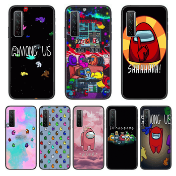 Among Us Game Phone Case For Huawei Nova p10 lite 7 6 5 4 3 Pro i p Smart ZBlack Etui 3D Coque Painting Hoesje image