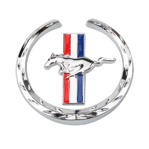 Image 5 - 1Pair Door Fender 3D Emblem Car Sticker Running Horse For Ford Mustang Badge Logo Decal Car Styling Free Shipping