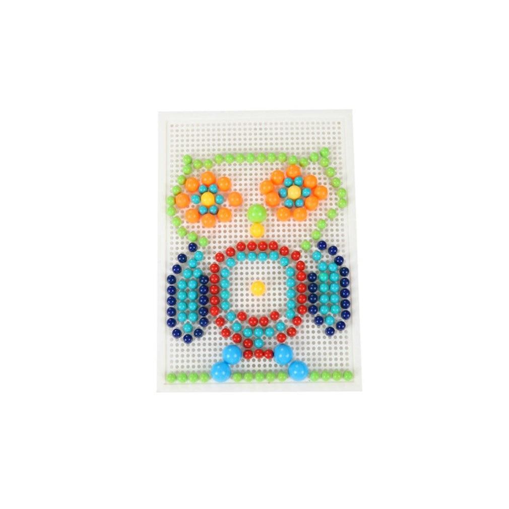 Creative Mosaic Puzzle Toys Mosaic Mushroom Nail Kits Nail Composite Picture Puzzle Children Education Toys
