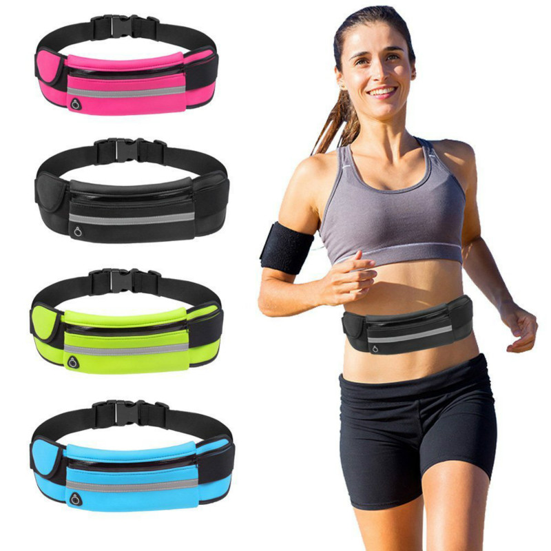 Men Outdoor Jogging Runnning Waist Bag Women Sport Waist Pack With Kettle Belt Gym Fitness Running Belt Bag Mobile Phone Bags