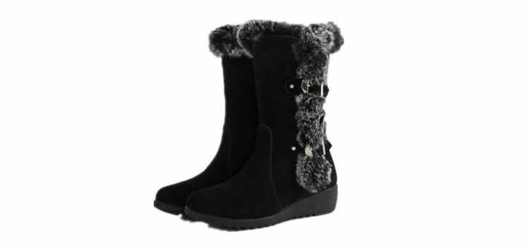 Yeni sıcak kadın çizmeler sonbahar akın kış bayanlar moda kar botları ayakkabı uyluk yüksek süet orta buzağı çizmeler 2020
