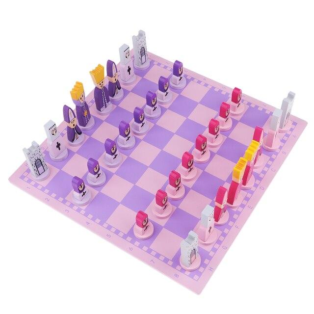 Jeu d'échecs pour enfants rose 4