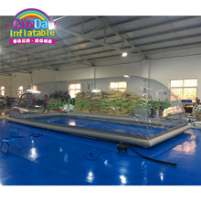 Winter clear inflatable pool cover tents, transparent bubble dome tent