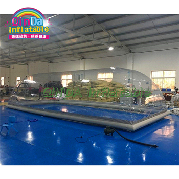 цена на Winter clear inflatable pool cover tents, transparent clear inflatable pool bubble dome tent
