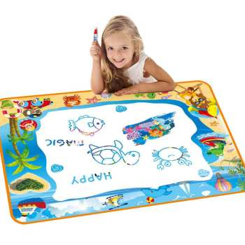 100x70 CM Kids Doodle Mat Magic Water Drawing Mat  Drawing Pens  Stamps Set Painting Board Educational Toys for Kids 80x60cm water drawing mat