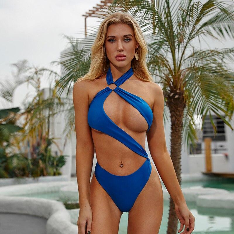 2020 экстремальные купальники, новый бразильский женский купальник, цельные боди, бикини с вырезами, Женский монокини с высоким вырезом, пляж...