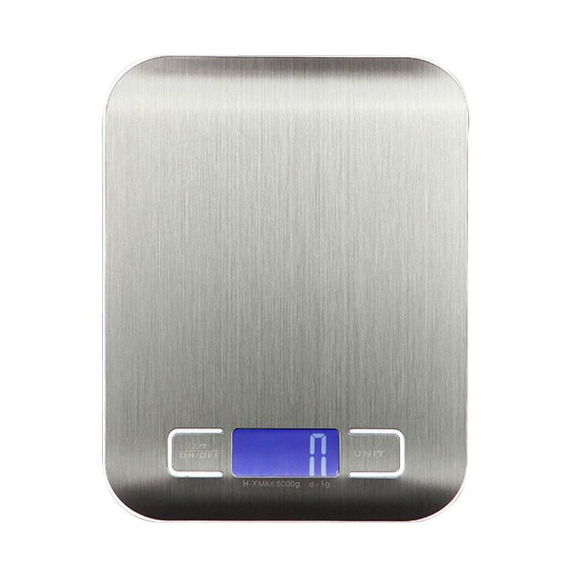 5/10 кг Нержавеющаясталь Высокая точность цифровой электронный ЖК-дисплей Дисплей балансовый масштаб Еда Вес дома Перезаряжаемые измерительный инструмент-1
