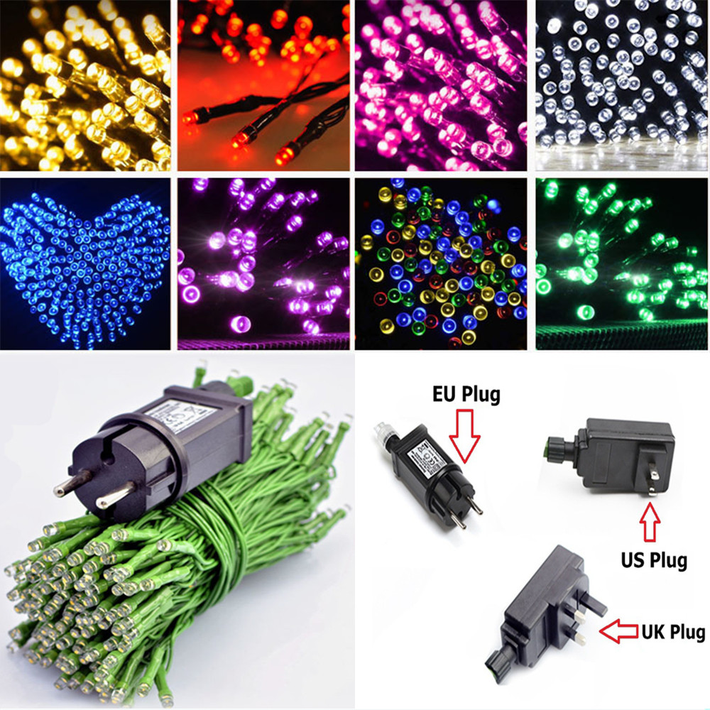 12M/22M LED String Fairy Light Christmas Light 31V US/EU/UK Power Adapter Waterproof IP44 For Outdoor/Indoor Party House Decor|LED String| |  - title=