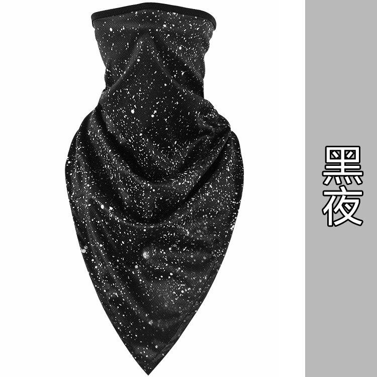 Новое ледяное шелковое треугольное полотенце крутой дышащий платок на голову воротник Мужская и женская маска от Солнца маска ошейник - Цвет: Dark night