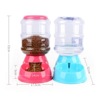 Portable Pet Dog Cat Automatic Feeders Water Dispenser for Small Medium Large Dogs Supplies