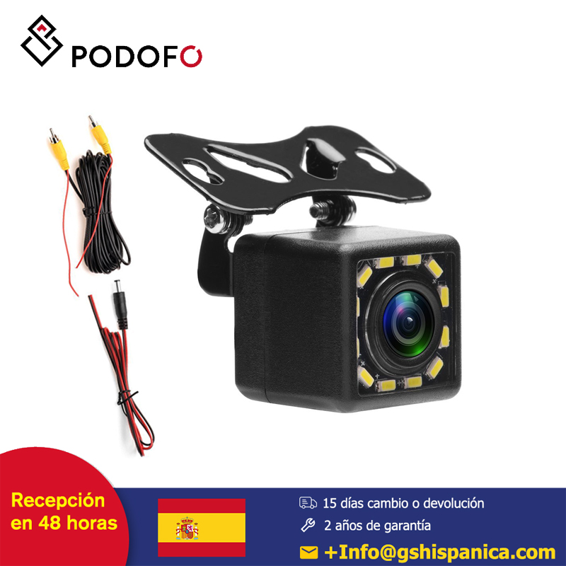 Podofo Waterproof Car Rear View Camera 170 Wide Angle HD CCD 12 LED Night Visions Backup Reversing Parking Cameras Car-styling