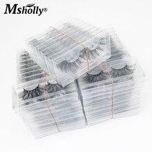 100 pares 25 mm vison cílios em massa bandeja clara cílios postiços caixa de embalagem por atacado cílios dramáticos 3d vison cílios fornecedor