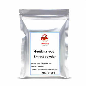 High quality ISO Gentiana Lutea Extract Gentiana root powder treatment Arthralgia amnesia and insomnia free shipping