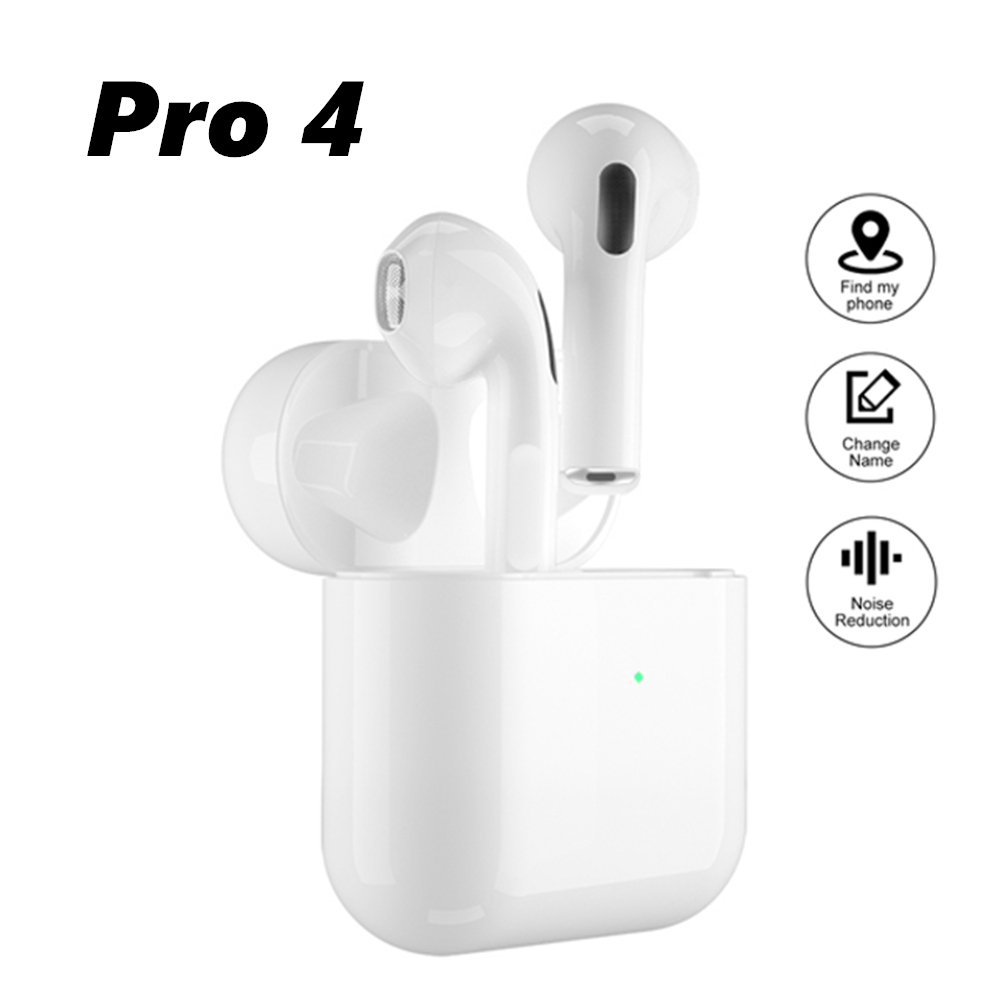 Airpoddings Pro 4 Bluetooth Earphones HD Call Wireless Headphone HiFi Music Earbuds Sports Runing Headset For All Smart Phone