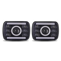 2pcs LED Headlights 5x7 7x6 Headlamp Hi/Low Sealed Beam H4 Plug 6054 H5054 Jeep Wrangler YJ XJ Cherokee Truck Ford Van