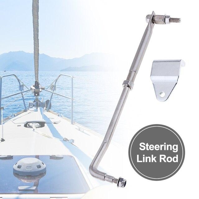 """1 Set Barca Sterzo Asta di Collegamento Kit In Acciaio Inox Universale Per Marine Yacht Fuoribordo Motore 33 centimetri 13 """"Barca accessori Marine"""