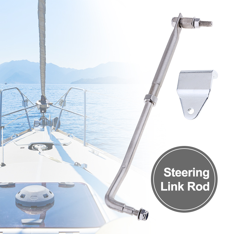 """1 Set Boat Steering Link Rod Kit Stainless Steel Universal For Marine Yacht Outboard Engine 33cm 13"""" Boat Accessories Marine"""