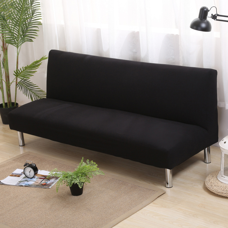 Solid Color Sofa Bed Covers Without Armrest Elastic Tight Wrap Couch Cover Stretch Flexible Slipcovers Sofa For Banquet Hotel