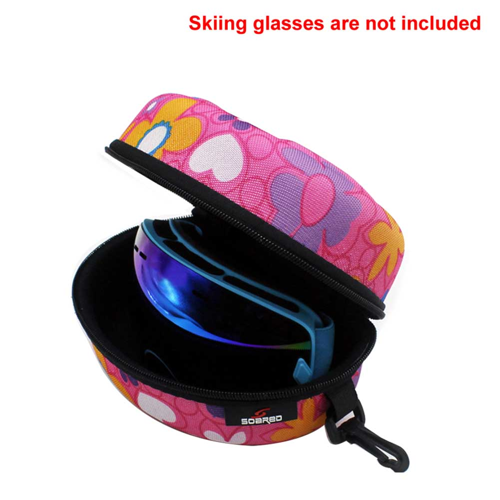 Winter Anti Scratch Outdoor Pressure Resistance Hard Ski Goggle Case Eyewear Protection Waterproof Sports Carrying Box Zipper