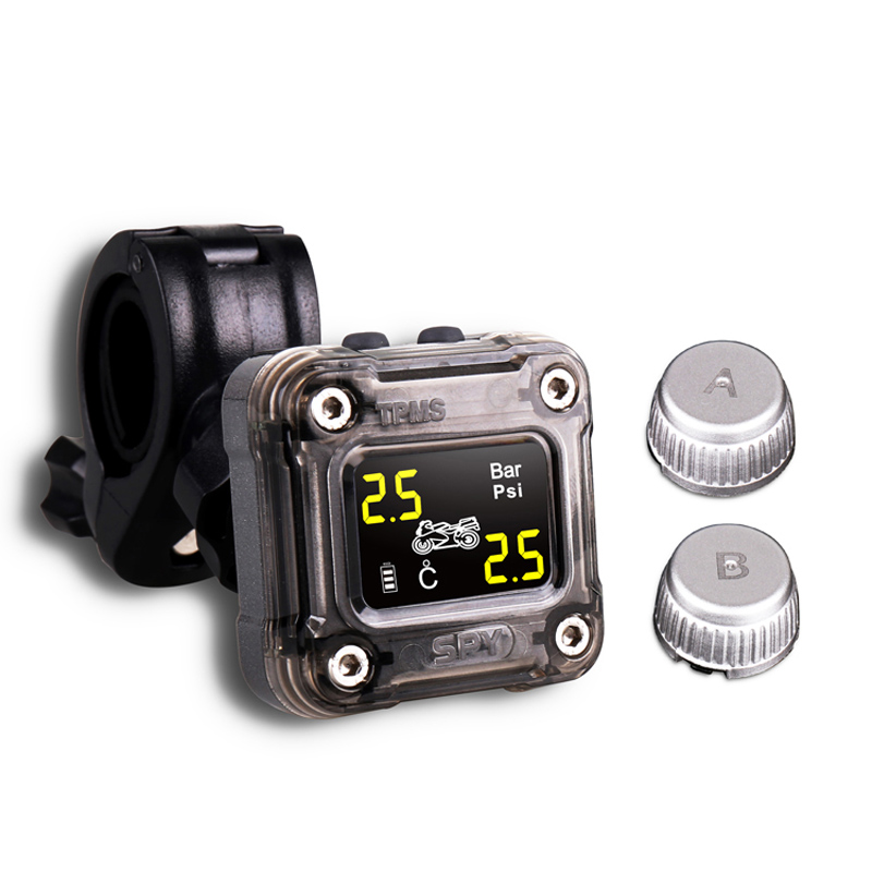 SPY 2 Wheels Motorcycle Tpms Waterproof Tire Pressure Monitoring System With External Sensor