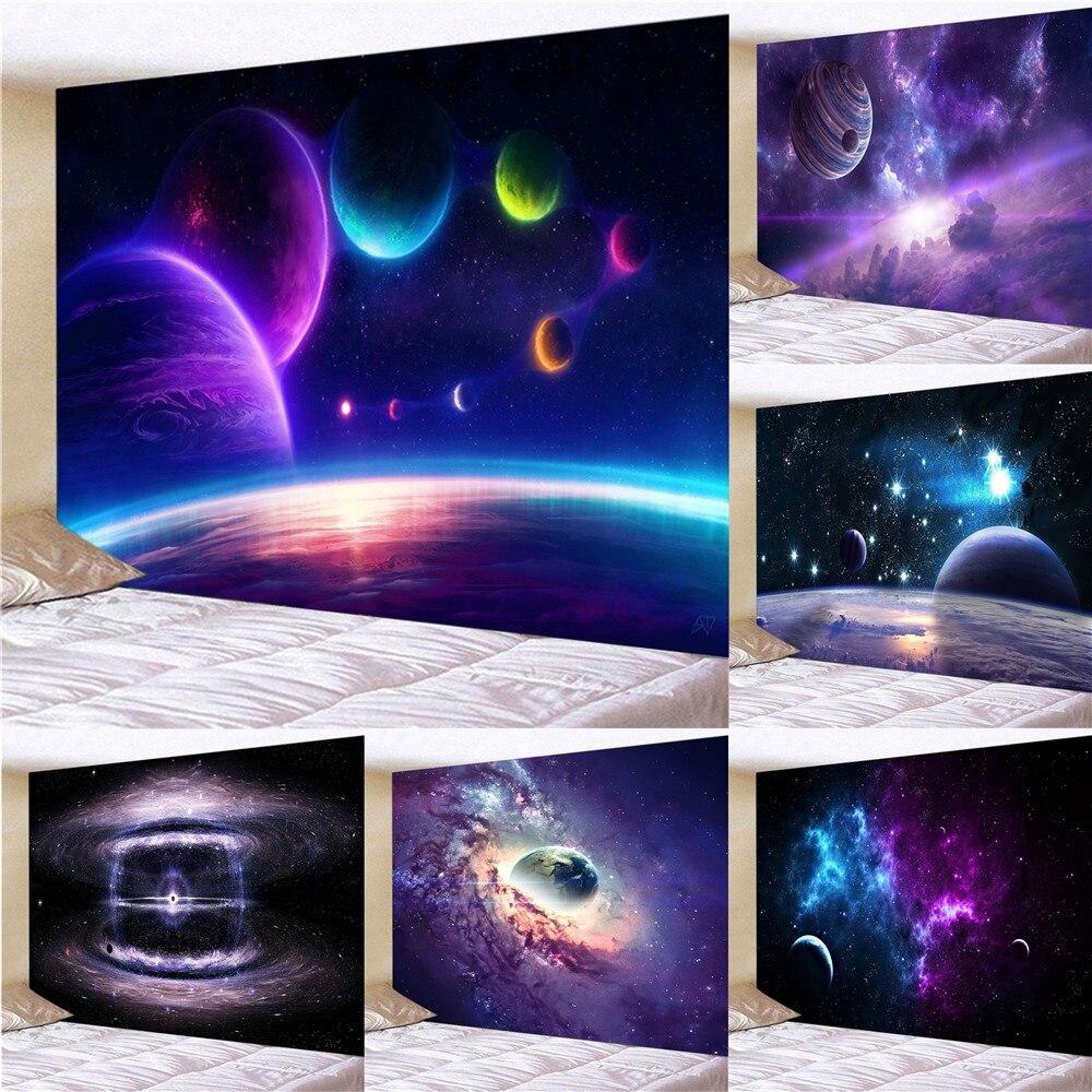 Uzay Galaxy gökyüzü manzara sanat goblen duvar dekorasyon ev dekorasyon (150cm X 100 Cm / 150cm X 130 Cm / 200cm X 150cm)
