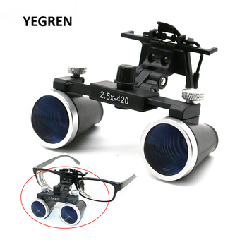 цена на 2.5X 3.5X Dental Loupes Binocular Magnifying Glass Galilean Medical Magnifier Coated Optical Lens with Clip f/ Dentist Surgical