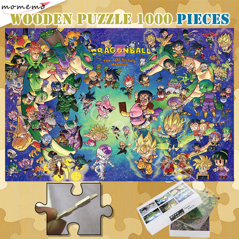 Assembling Puzzles Toys For Adults 300 500 1000 Pieces Cartoon Anime Customized Jigsaw Puzzles Dragon Ball Wooden Puzzles Games
