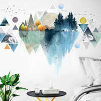 Creative DIY Nordic Triangle Mountain Wall Stickers Home Decor Living Room Bedroom Mural Art Wall Decal Self-adhesive Posters