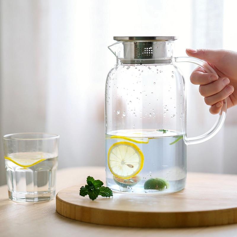 Термостойкая бутылка для воды из боросиликатного стекла, чайный горшок большой емкости, домашняя бутылка для чая с ситечками mx11091357