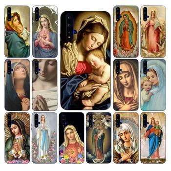 MaiYaCa maryi panny Christian boże narodzenie DIY malowane Bling etui na telefony dla huawei nova 2 2i 2plus 2s 3i 3e 4 4e 5 5i pro przypadku