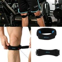 Correia de joelho ajustável, cinta de neoprene magnética de tendão para esportes, cinta de joelho com cinta ajustável