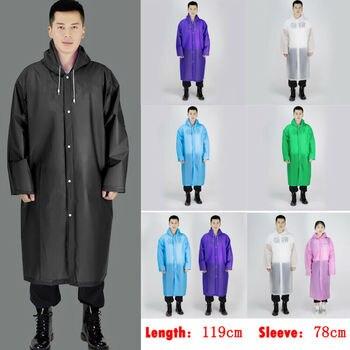 2020 Hot Men Women Waterproof Jacket EVA Button Hooded Raincoat Rain Coat Poncho Rainwear
