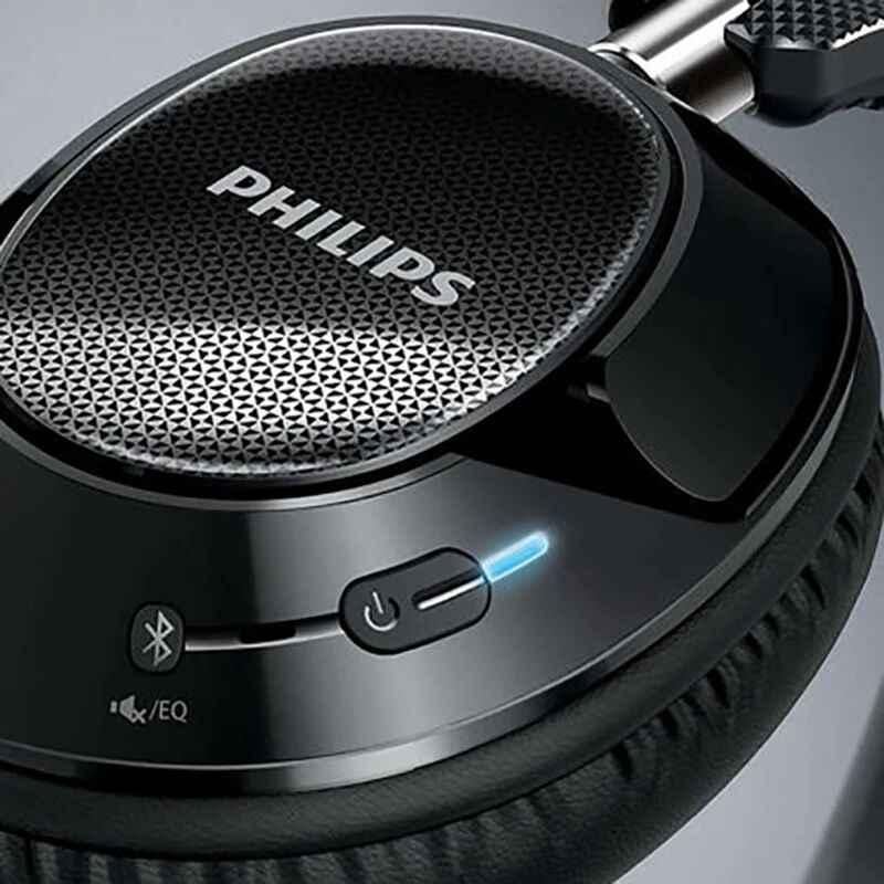 オリジナルフィリップス SHB9850 ワイヤレス bluetooth ヘッドフォンアクティブノイズキャンセルマイク、 nfc ヘッドセット公式検証
